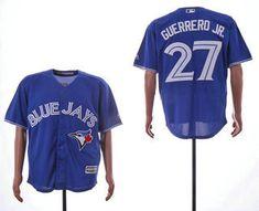 74fc7df8e Men s Toronto Blue Jays  27 Vladimir Guerrero Jr. Royal Blue Stitched MLB  Cool Base Jersey