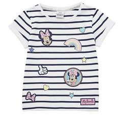 Disney Minnie Mouse Striped Badge T-Shirt Disney Outfits, Kids Outfits, Disney Clothes, Bnf, Disney Girls, Little People, T Shirts For Women, Badge, Minnie Mouse