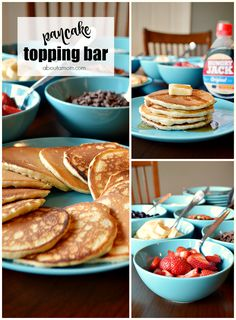 A build your own pancake bar is perfect for families with different tastes. It's also a fun way to create a perfect breakfast for parties, family gatherings and special events.