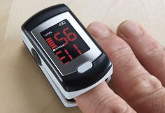 Fingertip Heart Rate Monitor clips comfortably on your finger to take an EKG-accurate reading of your real time heart rate. Accurate within 2 beats-per-minute, it features a bright digital screen, easy-to-read numbers, pulse rate waveform (50-d only) and bargraph displays.