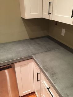 With our concrete countertops came a lot of different questions and I am here today to answer them as best as I can! If you need a reminder - we are working on the basement kitchen chronicles. We started this room a little over a year ago so anyone staying in our basement could have their own...