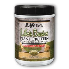 Lifetime Life's Basics Plant Protein Unsweetened, Natural Vanilla, LB Natural Protein Powder, Hemp Protein Powder, Protein Blend, Vegetarian Protein Sources, Vegetarian Recipes, Apple Cider Vinegar Pills, Best Green Tea, Isolate Protein, Plant Protein