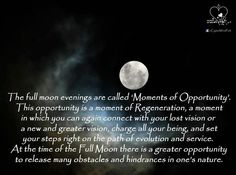 """Full moon """"moments of opportunity"""""""