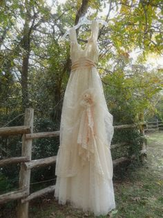 "MadeToOrder ..""Belle"" Rustic   Beach  Shabby French Champagne  Blush Tea Ivory Cream Vintage Inspired  Wedding Dress Altered Slip"