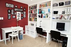 J family work center - transitional - home office - raleigh - Just Jill! Interiors
