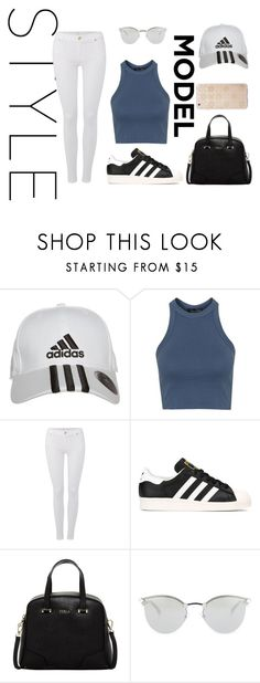 """""""Untitled #12"""" by jazz18-896 ❤ liked on Polyvore featuring adidas, Topshop, 7 For All Mankind, Furla, Fendi, Sonix, women's clothing, women, female and woman"""