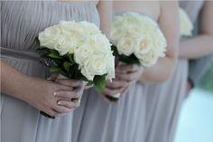Bridesmaids bouquet in white Rose by Tirtha Bridal Uluwatu Bali