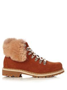 Camelia fur-trimmed suede après-ski boots | Montelliana | MATCHESFASHION.COM UK