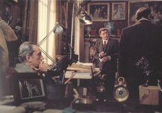 Burt Lancaster and Luchino Visconti, on the set of Conversation Piece. Photo by Angelo Frontoni, 1974.