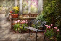 Spring - Bench - A Place To Retire by Mike Savad.  If you would like to see more of Mike 's work, it can be found at Fine Art America.