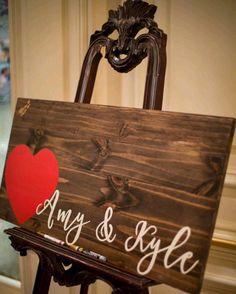 Wedding Guestbook Wood Guest Book Rustic by rustybucketsigns Wood Guest Book, Rustic Wedding Guest Book, Wedding Book, Wedding Signs, Diy Wedding, Dream Wedding, Wedding Ideas, Cricket Wedding, Great Gatsby Wedding