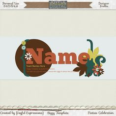 You can make your own Thanksgiving/Autumn themed siggy with this freebie siggy template from Joyful Expressions.