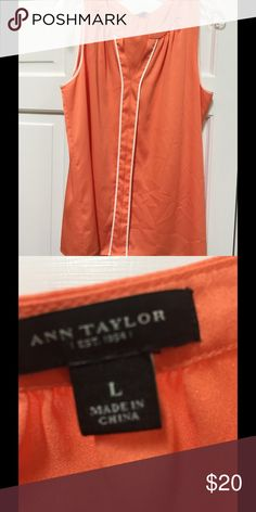 Ann Taylor silk shell Awesome fall color - great material.  Lays great or tucks in for a fancy look. Ann Taylor Tops Blouses