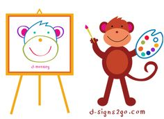 Monkey Art!   Tees and gifts by d-signs2go. Check out our selections of monkey designs in t-shirts and gifts http://www.d-monkeyshop.com/artist-t-shirt-art-tee-shirts/