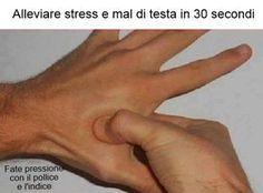 Alleviare il mal di testa in 30 secondi