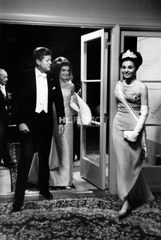 The Kennedys and the Empress of Iran.