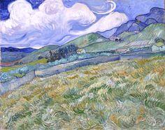 Landscape from Saint-Rémy, 1889, Vincent van Gogh. (1853 - 1890)