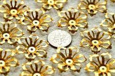 Brass Stamping Flower Filigree