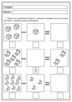 Atividades Adição e Subtração Matemática para Ensino Fundamental Math Worksheets, Preschool Activities, Student Self Assessment, Numbers For Kids, Alphabet Coloring Pages, All Schools, Math For Kids, Word Families, Math Lessons