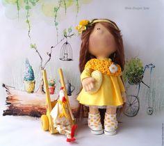 """Купить Куколка """"Девочка Jane"""" - куколка, коллекционная кукла, текстильная игрушка, текстильная кукла, молодеж"""