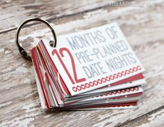 12 Months of Date Nights Gift & Free Printable!