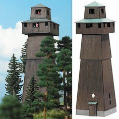 BUSCH HO SCALE 1:87 OBSERVATION TOWER KIT! MINT! 1435 *