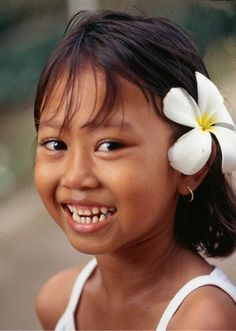 a beautiful smile from a girl from Bali