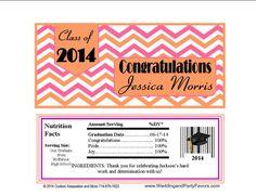 Graduation Candy Bar Wrappers Gra-1207-WP chevron print