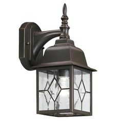 Portfolio Litshire 15-3/8-in H Oil-Rubbed Bronze Outdoor Wall Light (Back Porch light x2)