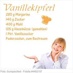 Wandtattoo Weihnachten - Rezept Vanillekipferl