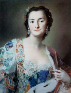 Pastel portrait of Anna Orzelska by Rosalba Carriera, 1739 (PD-art/old), Gemäldegalerie Alte Meister Dresden