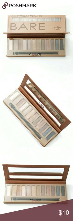 Italia Silky Bare Nudes Eyeshadow Palette Italia Deluxe Silky Eye Shadow BARE Palette in 12 Matte and Shimmery Nude Shades - Brand New & Sealed  Includes mirror & double ended brush applicator Italia Deluxe  Makeup Eyeshadow