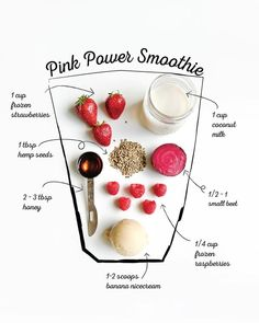 """Move aside green smoothies, pink smoothies can't be """"beet""""! 🙈🍓🍌 On this edition of we bring you our Pink Power smoothie! Berries and beets provide the gorgeous colour for a fun and healthy start to your day 💕 Veggie Smoothies, Apple Smoothies, Easy Smoothies, Strawberry Smoothie, Breakfast Smoothies, Power Smoothie, Smoothie Drinks, Smoothie Recipes, Blender Recipes"""