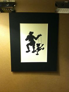 Disney Gepetto and Pinocchio Silhouette by TheHappyThoughtShop, $15.00