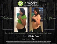 Before and After 2 Days    Product Used: It Works! Cleanse