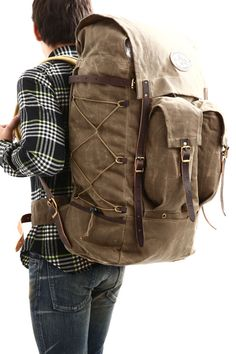 zodiac | Rakuten Global Market: (Frost River) Isle Royale Bushcraft Pack oil processing canvas material bridle leather with brass parts backpack (730.) Field Tan Waxed (Tan) MADE IN the USA (made in United States)