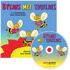 Prenteboeke vir 2-5 jariges. Eenvoudige storielyne, min teks, groot kleur illustrasies, met 'n CD vir saamluister, met klokkie vir omblaai.