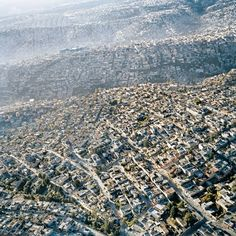 La D.F. no parece tener fin. Foto aérea. Ciudad México.