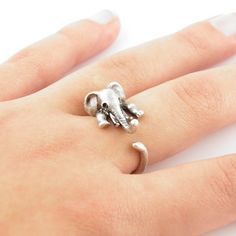 2016  Arrival Women  Elephant Animal Wrap Ring in Antique Silver and Bronze color for Woman Unique Rings EY-R301