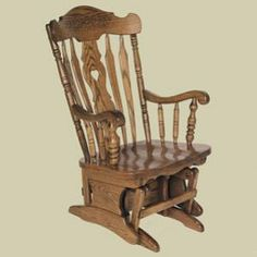 Redux Antique Rocker Glider   Heritage Colonial Daisy Country Lane Glider.  Available In Premium