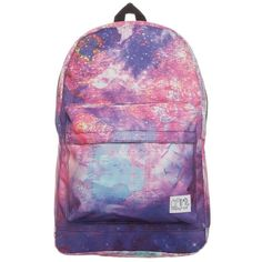 Spiral Bags Rucksack global galaxy ($29) ❤ liked on Polyvore featuring bags, backpacks, accessories, multicoloured, multi colored backpacks, backpack laptop bag, zip bags, zipper bag and galaxy bag