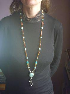 Lanyard Necklace, Beaded Necklace, Bird Earrings, Drop Earrings, Old Jewelry, Id Badge, Star Shape, Poet, Handmade Necklaces