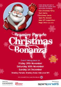 Bramley Bonanza Santa Christmas, Christmas Carol, Meet Santa, Magic Show, Cancer Support, Activities, Party, Fun, Fin Fun