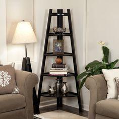 Danya B 5-tier Espresso Corner Ladder Display Bookshelf