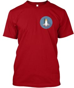 Limited Edition Rocket Ship Red Tagless Tee Shirt Click image to buy.
