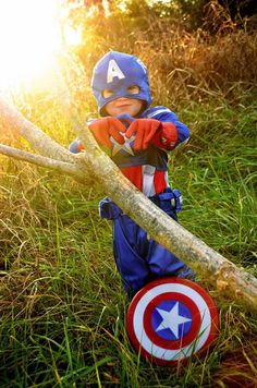 Captain America  Halloween Costume  Copyright Amber S. Wallace Photography