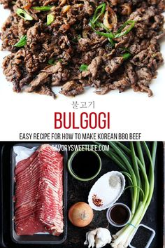 This is the best authentic bulgogi recipe. the most popular korean bbq recipe is bulgogi Healthy Grilling Recipes, Grilled Steak Recipes, Cooking Recipes, Healthy Food, Cooking Food, Meal Recipes, Beef Bulgogi Recipe, Bulgogi Marinade, Bulgogi Sauce