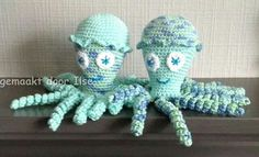 Deze inktvisjes zijn gemaakt door Ilse Van de Schoot.
