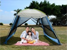 141.55$  Watch here - http://alimd9.worldwells.pw/go.php?t=32348446004 - Double layer camping tent awning beach tent sun shelter outdoor tent gazebo tent UV protection sunshade without floor mat 141.55$