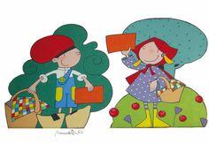 Patufet i caputxeta. Fusta Disney Characters, Fictional Characters, Minnie Mouse, Art, School, Storytelling, Art Background, Kunst, Gcse Art
